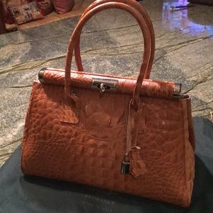 Handbags - Genuine leather satchel made in Florence Italy